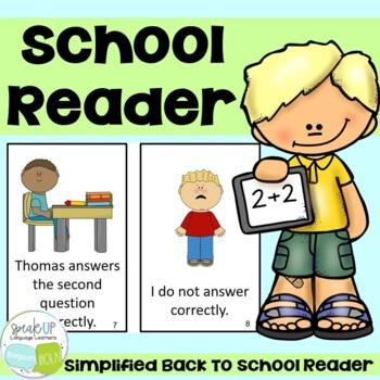 Math Class School Themed Reader  {Young Readers, ESL, EFL}