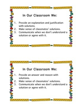 Math Classroom Norms
