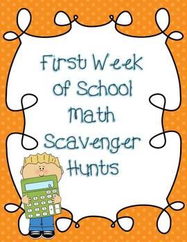 Math Classroom Scavenger Hunts {Back to School Activities}