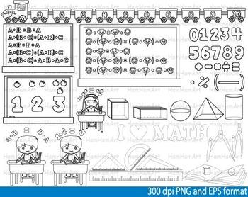 Math Clip Art Teacher outline Apple School mathematics geo