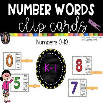 Math Clip Cards - Number Words
