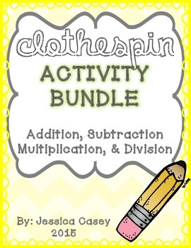 Math Clothespin Activity **BUNDLE**