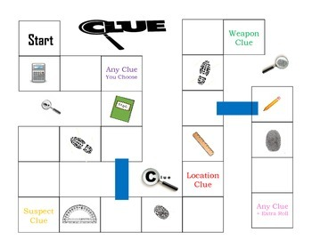 Math Clue Game Board