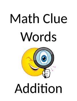 Math Clue Words