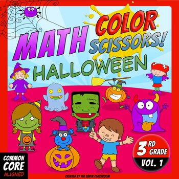 Math, Colors, Scissors - 001 - Halloween - 3rd grade - Com