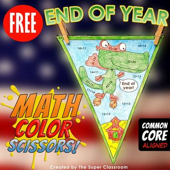 Math, Colors, Scissors - 005 - End of Year - FREE - Common
