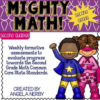 Math CCSS Assessments - SECOND GRADE - Second Quarter
