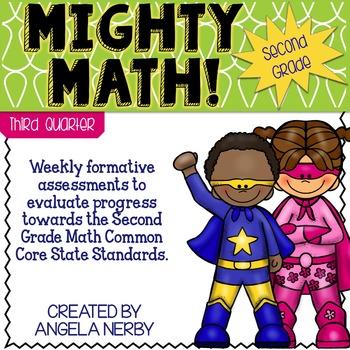 Math CCSS Assessments - SECOND GRADE - Third Quarter
