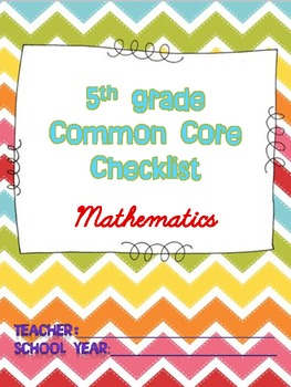 Math Common Core Checklist - 5th Grade