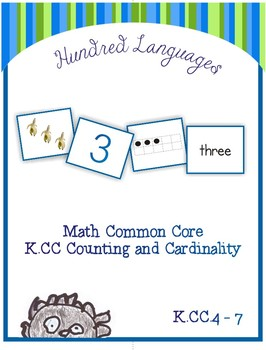 Math Common Core: Counting and Cardinality Activities