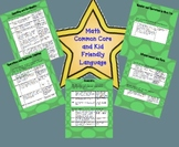 Math Common Core Standards List with Kid Friendly Language