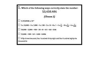 Math Common Core State Assessment Prep - 5th Grade