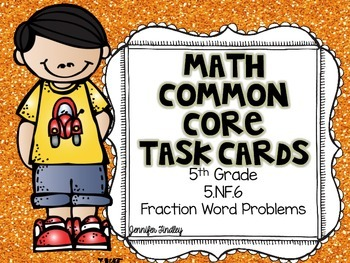 5.NF.6 Multiplying Fractions Word Problems Task Cards