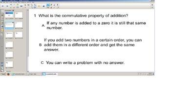 Math Commutative and Identity Property, grade 3 senteo sma