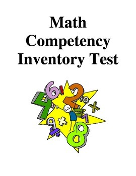 Math Competency Inventory Test - Grade 6