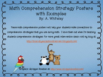 Math Comprehension Strategy Posters with Examples