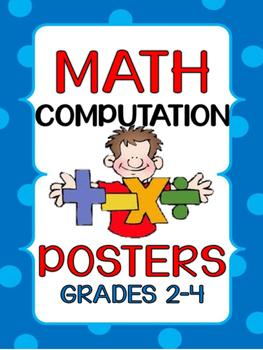 Math Computation Strategy Posters