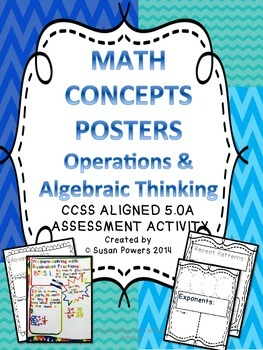 Math Concept Assessment Posters for Operations and Algebra