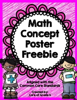 Math Concept Poster Freebie Operations