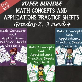 Math Concepts and Applications MCAP Practice Sheets Bundle