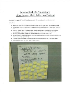 Math Connections - Quick poster for student input