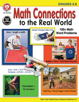 Math Connections to the Real World Grades 5-8 SALE 20% OFF 404252