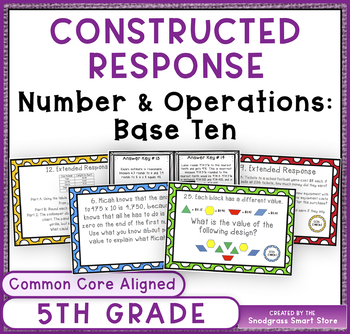 Constructed Response- 5th Grade Number & Operations Base T