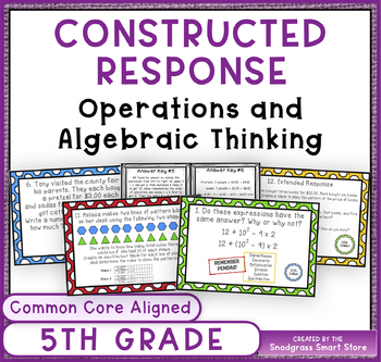 Constructed Response Problems - 5th Grade Operations & Alg
