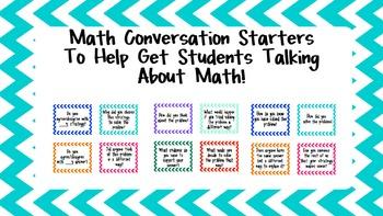 Math Conversation Starters