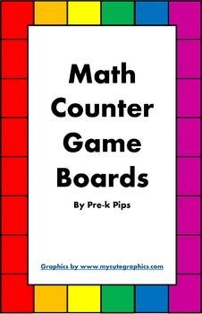 Math Counter Game Boards
