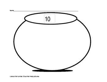 Math Counting Objects- Numbers to 10 (K.CC) A Cut and Past