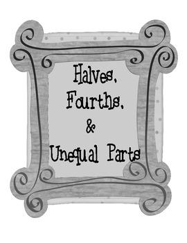 Math Craft : Halves, Fourths, & Unequal Parts