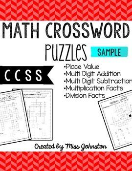 Math Crosswords: Sample