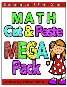 No Prep Math Pages- cut and paste