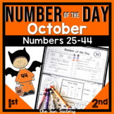 Number of the Day~1st Grade~Common Core~Oct.~ No Prep, Just Print