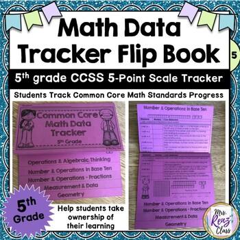 Math Data Flip Book * Data Tracking 5th Grade * 5-pt scale