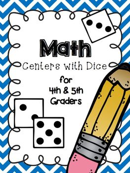 Math Dice Centers 13 concepts 23 Differentiated Activities