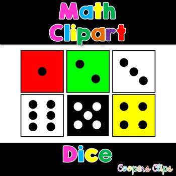 Math: Dice Clipart