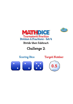 Math Dice Division and Fractions Challenge Sets by ThinkFun