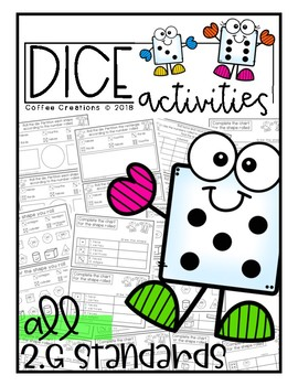 {Math} Dice Activity Book {2.G.1, 2.G.2, and 2.G.3}