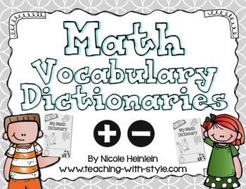 Math Vocabulary Dictionaries