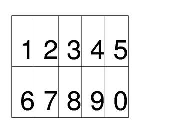 Math Digit Cards