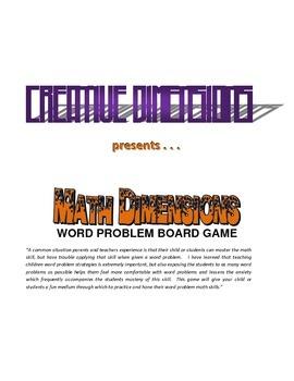 Math Dimensions Word Problem Board Game