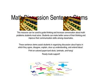 Math Discussion Stems