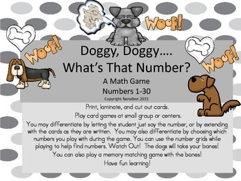 Math Doggy What's That Number Game -Numbers 0-30