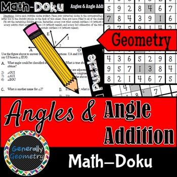 Math-Doku: Angles and Angle Addition; Geometry, Sudoku