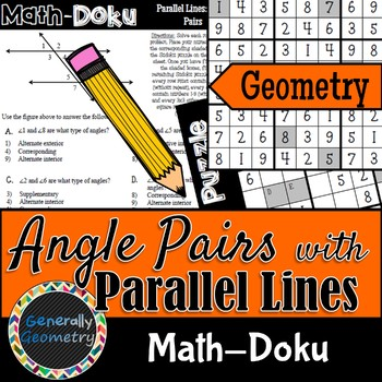 Math-Doku: Parallel Lines & Transversals Angle Relationshi