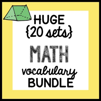 HUGE {all the VOCABULARY sheets} Math Doodles BUNDLE - ALL