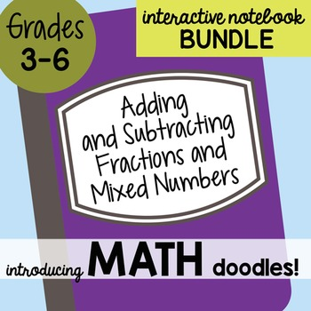Math Doodles Interactive Notebook Bundle 10 - Adding & Sub