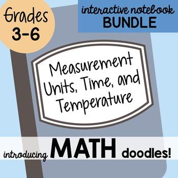 Math Doodles Interactive Notebook Bundle 14 - Measurement,